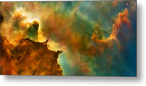 Nasa Images Metal Print featuring the photograph Nebula Cloud by Jennifer Rondinelli Reilly - Fine Art Photography