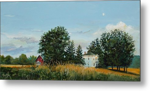 Landscape Metal Print featuring the painting The Ride Home by William Brody