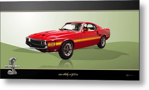 Wheels Of Fortune By Serge Averbukh Metal Print featuring the photograph 1969 Shelby v8 GT350 by Serge Averbukh