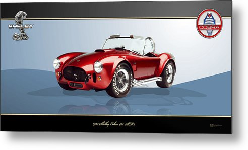 Art Metal Print featuring the photograph 1965 Red Shelby Cobra 427SC by Serge Averbukh