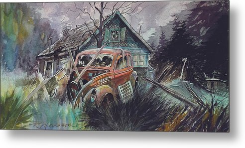 Ford Metal Print featuring the painting Affordable by Ron Morrison