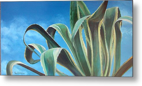 Floral Painting Metal Print featuring the painting Agave by Muriel Dolemieux