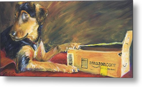 Dog Metal Print featuring the painting And Youre Done by Nik Helbig