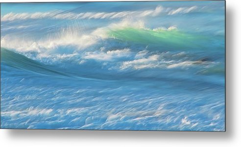 Nature Metal Print featuring the photograph Light Wave at Asilomar, Pacific Grove, California by Zayne Diamond Photographic