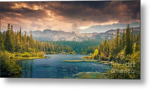 Sunset Metal Print featuring the photograph Sunset stream in Canada by Thomas Jones