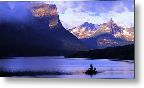 Scenics Metal Print featuring the photograph Usa, Montana, Glacier Np, Mountains by Paul Souders