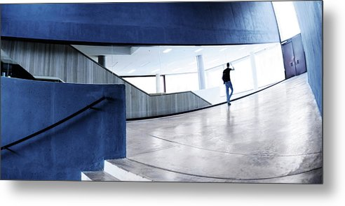 Pedestrian Metal Print featuring the photograph Modern Architecture by Nikada