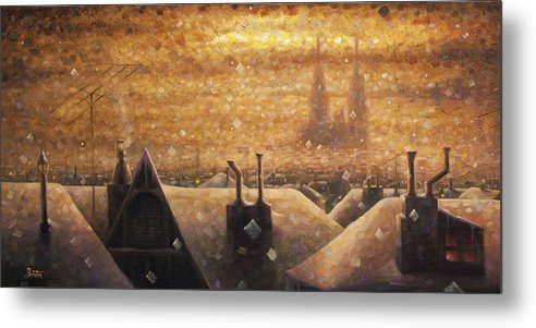 France Art Metal Print featuring the painting France Cathedral 4 by Rob Buntin
