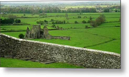 Scenics Metal Print featuring the photograph Ireland Country Scape With Castle Ruins by Njgphoto