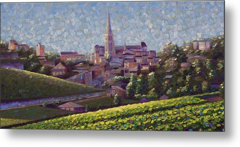 Robbuntinart Metal Print featuring the painting St. Emilion Art by Rob Buntin