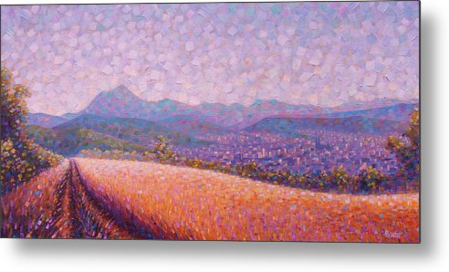 Auvergne Metal Print featuring the painting Chaine des Puys by Rob Buntin