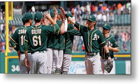 People Metal Print featuring the photograph Josh Reddick by Leon Halip