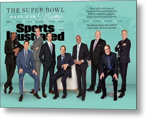 Magazine Cover Metal Print featuring the photograph The Super Bowl Made For Miami Sports Illustrated Cover by Sports Illustrated