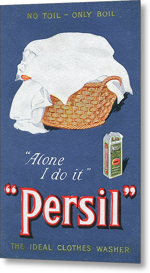 Advertisement For Persil -  A Basket by Mary Evans Picture Library