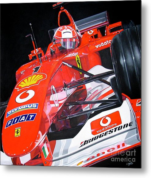 Car Metal Print featuring the painting A Schu-in by Lynn Masters