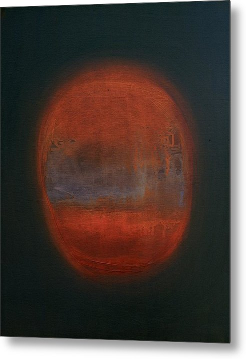 Abstract Expressionist Metal Print featuring the painting Orange Orb by Kongtrul Jigme Namgyel