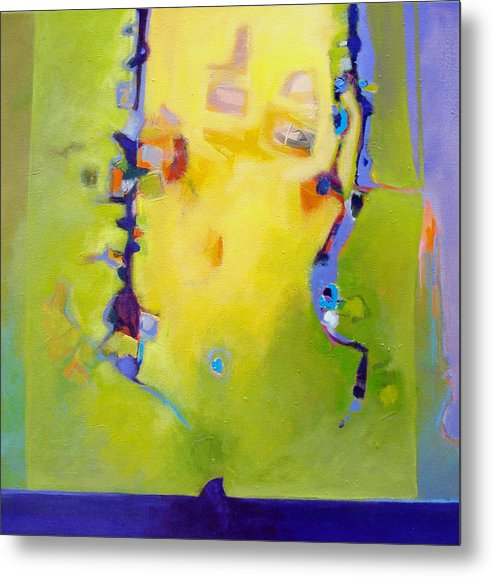 Abstract Metal Print featuring the painting Sharks Teeth by Dale Witherow