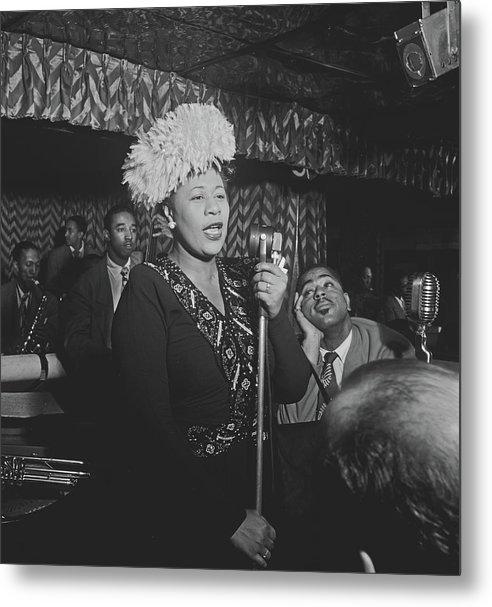 Ella Fitzgerald And Dizzy Gillespie 1947 by William Gottlieb