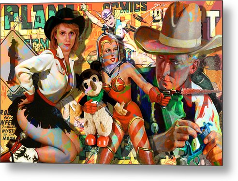 Sci-fi Metal Print featuring the painting How The West Was Won by Robert Anderson