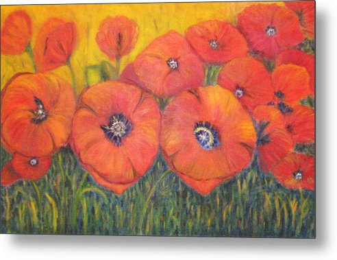 Poppies Metal Print featuring the painting Poppies For My Sister by Patricia Ortman