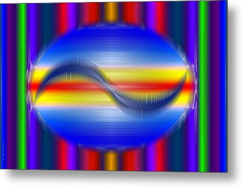 Tah Humm Metal Print featuring the digital art Purified Self Expression by Debra MChelle