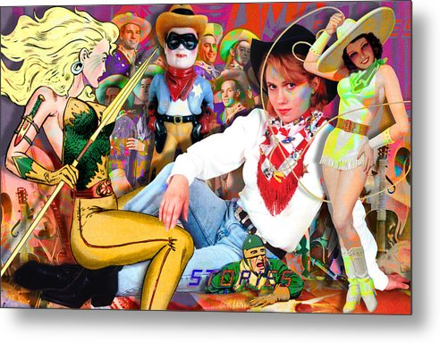 Painting Metal Print featuring the painting Amazing Stories by Robert Anderson