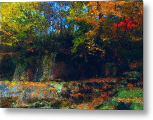 Autumn Metal Print featuring the digital art Bursting Autumn Cheer by Stephen Lucas