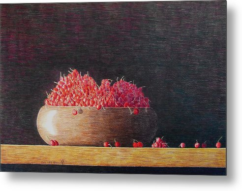 Still Life Metal Print featuring the painting Full Life by A Robert Malcom