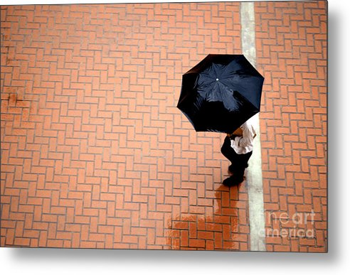 West Metal Print featuring the photograph Going West - Umbrellas Series 1 by Carlos Alvim