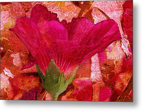 Flower Metal Print featuring the digital art Red Queen by Tom Romeo