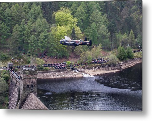 Dambusters 70th Anniversary Flypast Metal Print featuring the photograph Lancaster Bomber 70th Anniversary Flypast by Ken Brannen