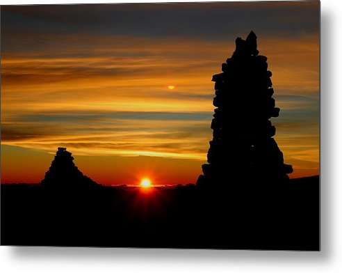 Sunrise Metal Print featuring the photograph Summit Sunrise by Kawika Singson