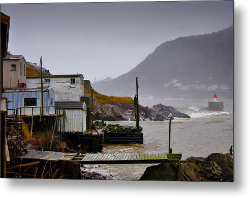 Fort Amherst Metal Print featuring the photograph Waters Edge St Johns by Geoff Evans