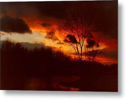 Sunrise Metal Print featuring the photograph 072806-3 by Mike Davis