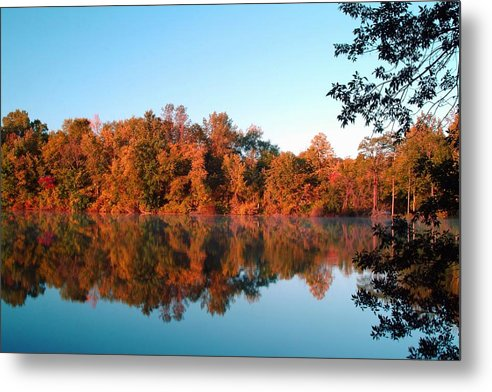 Autumn Metal Print featuring the photograph 091709-77 by Mike Davis