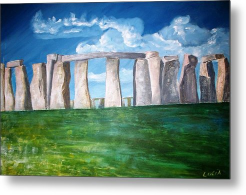 Stonehenge. Uk. Britain. Metal Print featuring the print Stonehenge by Carl Lucia