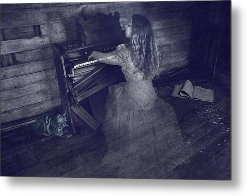 Conceptual Art Metal Print featuring the photograph A Ghostly Tune by Keith Clontz