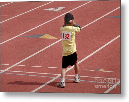 Track Metal Print featuring the photograph Do You Have To Fire That Gun? by Michael Ziegler