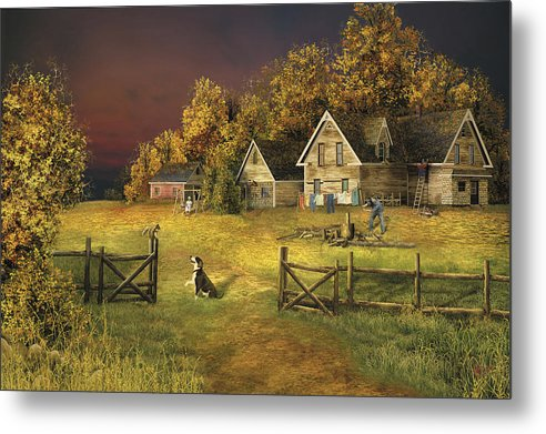 Country Landscape Metal Print featuring the digital art Countryliving by Russell Cleversley