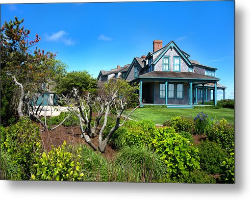 Nantucket Metal Print featuring the photograph Nantucket Architecture Series 08 Y1 by Carlos Diaz