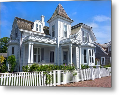 Nantucket Metal Print featuring the photograph Nantucket Architecture Series 5 - Y1 by Carlos Diaz