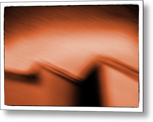 Architecture Metal Print featuring the photograph Night House Orange by Michael Ziegler