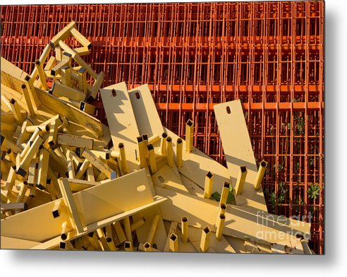 Industrial Metal Print featuring the photograph Reserve by Lionel F Stevenson