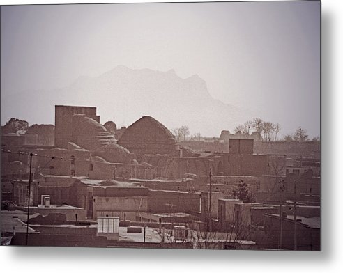 Iran Metal Print featuring the photograph Rooftops, Yazd, Iran by Michael Ziegler