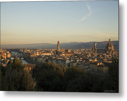 Landscape Metal Print featuring the photograph Sunrise In Florence by Luigi Barbano BARBANO LLC