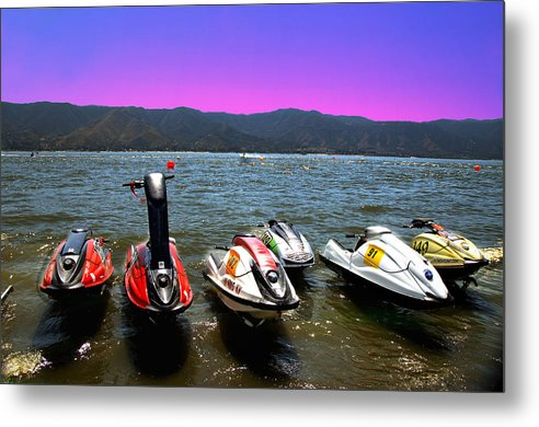 Water Metal Print featuring the photograph Sunset Ready by Richard Gordon