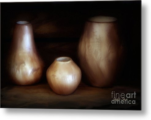 Still Life Metal Print featuring the painting The Potter by Carolyn Staut