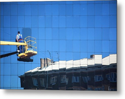 Photography Metal Print featuring the photograph To Wash The Sky by Vadim Grabbe