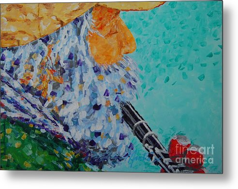 People Metal Print featuring the painting Vision The Music by Art Mantia