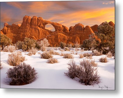 Arches National Park Metal Print featuring the photograph Winter Dawn At Arches National Park by Utah Images
